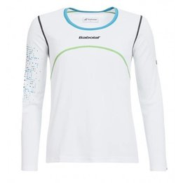 Babolat Chandail Manches Longues Femme Blanc