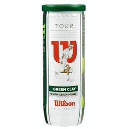 Balles Wilson Tour Clay Green