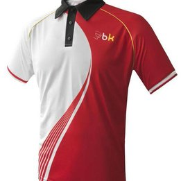 Black Knight Polo SWOOSH Blanc/Rouge