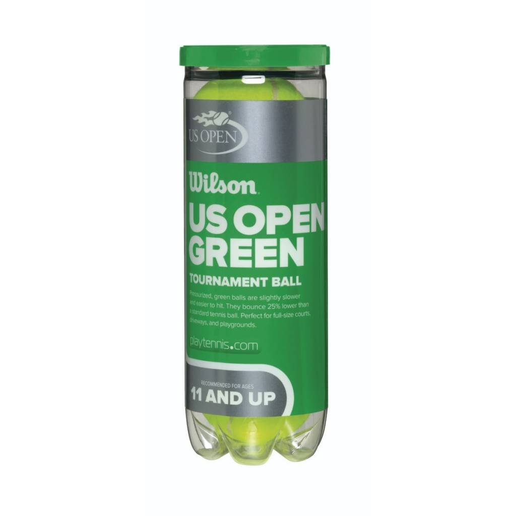 Wilson US Open Green Tournament Transition Tennis Balls