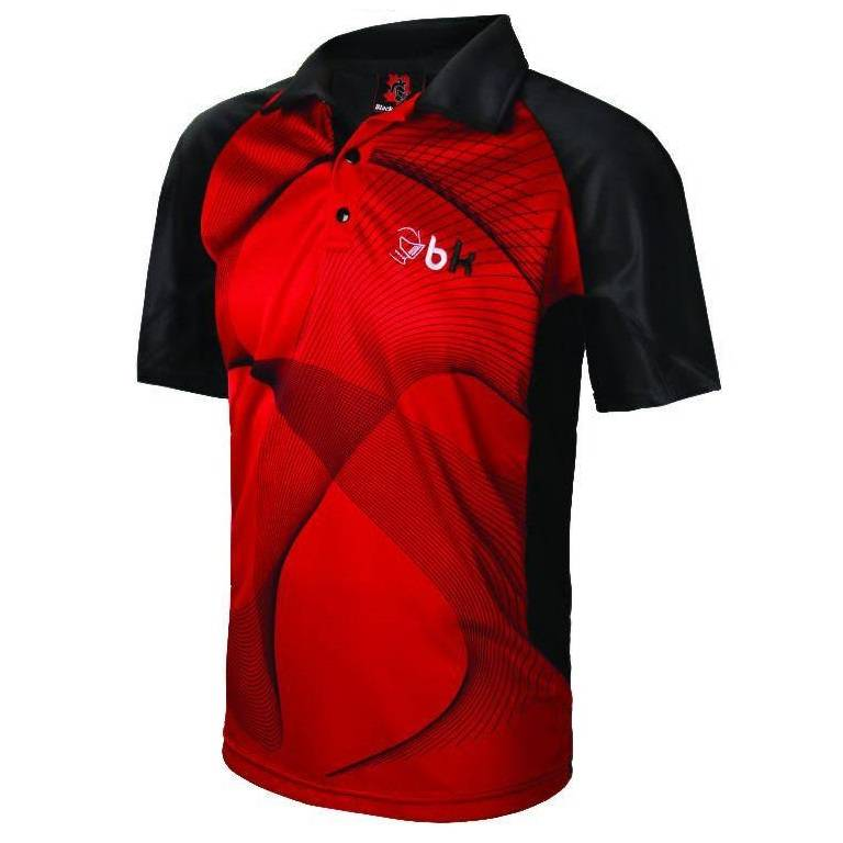 Black Knight Polo Matrix Noir/Rouge