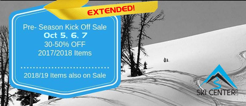 The Pre-season Sale has been Extended - Oct 5, 6 & 7!