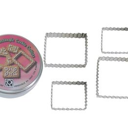R and M Rectangle Fluted Cookie Cutter Set