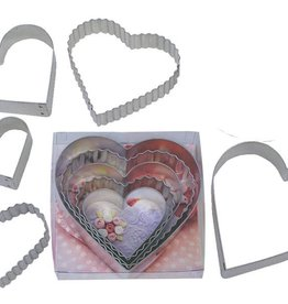 R and M Heart Cookie Cutter Set (5pc.)
