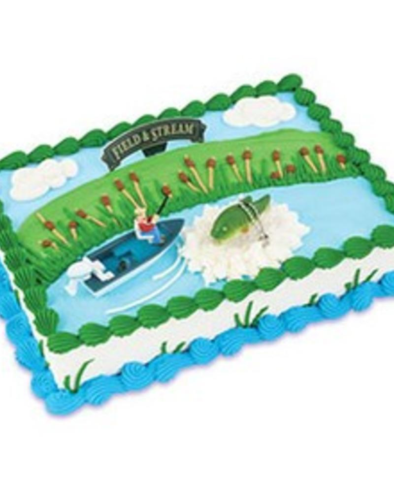 Decopac Field and Stream Bass Fisherman Cake Topper