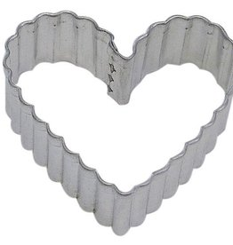 "R and M Fluted Heart Cookie Cutter (2.5"")"