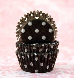 CK Black Polka Dot Baking Cups Mini (40-50ct)