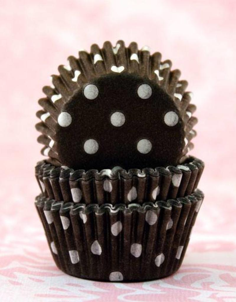 CK Black Polka Dot Baking Cups Mini (40-50ct)