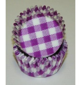 CK Purple Gingham Baking Cups Mini (40-50ct)