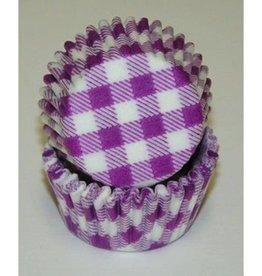CK Purple Gingham Baking Cups Mini (40-50ct)