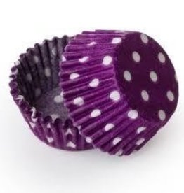 Viking Purple Polka Dot Baking Cups Mini (40-50ct)