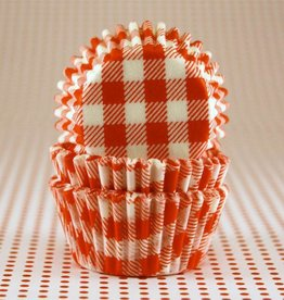 CK Orange Gingham Baking Cups Mini (40-50ct)