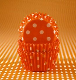 CK Orange Polka Dot Baking Cups Mini (40-50ct)