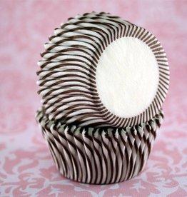 Brown Stripe Baking Cups