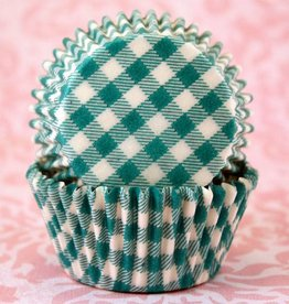 CK Green Gingham Baking Cups Mini (40-50ct)