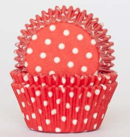 CK Red Polka Dot Baking Cups Mini (40-50ct)