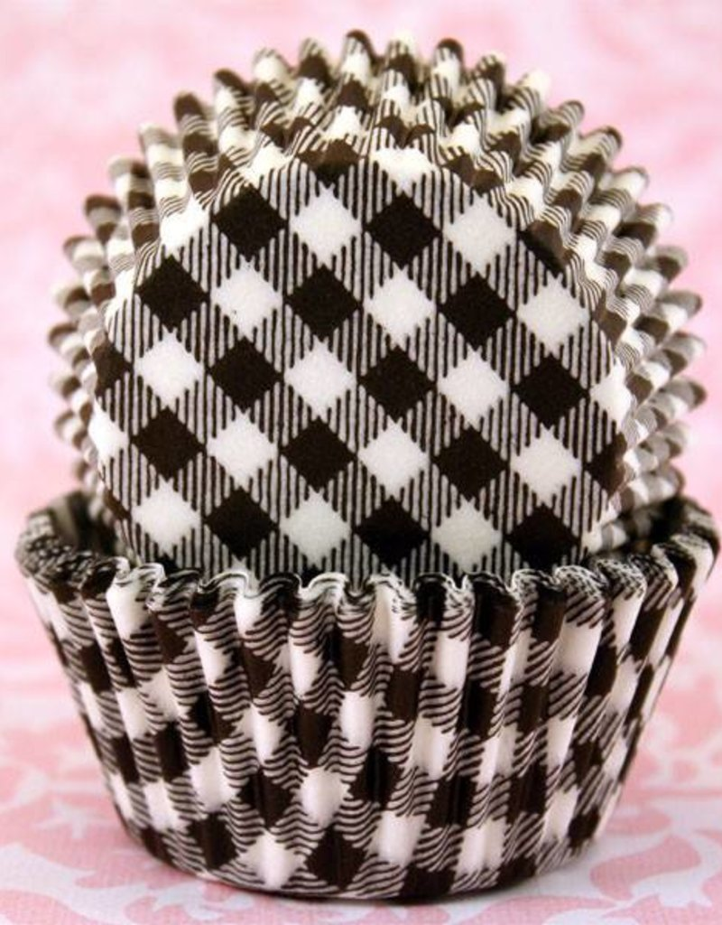 CK Black Gingham Baking Cups Mini (40-50ct)