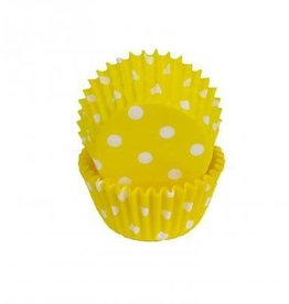 Viking Yellow Polka Dot Baking Cups Mini (40-50ct)