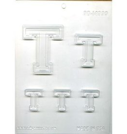 """CK Products COLLEGIATE LETTER """"T"""" CHOC MOLD"""