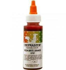 Neon Orange Chefmaster Liqua-gel 2.3 ounce