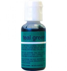 Teal Green Chefmaster Liqua-gel 3/4 ounce