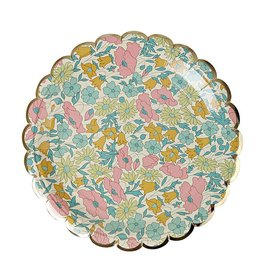 Meri Meri POPPY & DAISY SMALL PLATE Set of 8