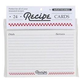 Harold Import Company Inc. Recipe Cards 4 X 6, set of 24