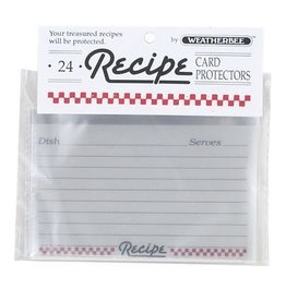 Harold Import Company Inc. Recipe Card Protectors 3 X 5, set of 24