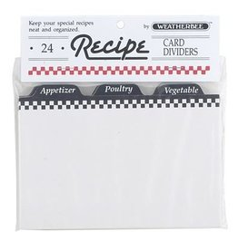 Harold Import Company Inc. Recipe Dividers (24) 4 X 6