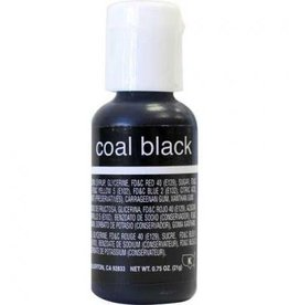 Coal Black Chefmaster Liqua-gel 3/4 ounce