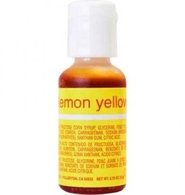 Lemon Yellow Chefmaster Liqua-gel 3/4 ounce