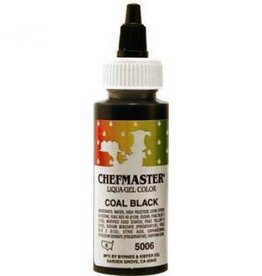 Coal Black Chefmaster Liqua-gel 2.3 ounce