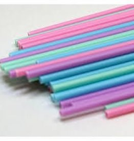 Deco Pack Plastic Sucker Sticks (6 inch Pastel)