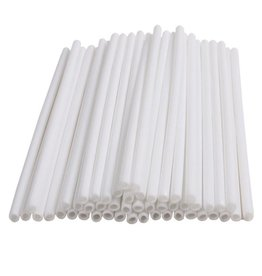 Deco Pack Plastic Sucker Sticks (White 6 inch)