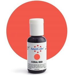 Americolor Corporation Coral Red Americolor Gel Paste .75 oz