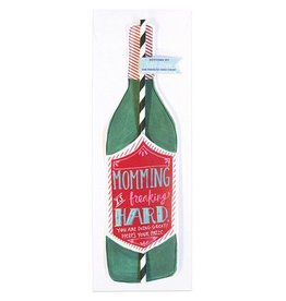 Curly Girl Design Wine Bottle Straw Card (Momming)