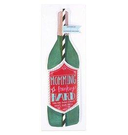 Curly Girl Design Wine Bottle Straw Card (Momming)
