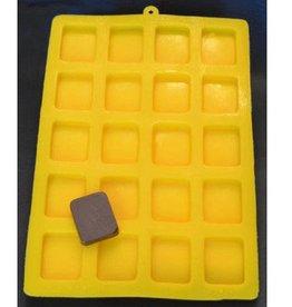 "CK Square Flexible Mint Mold (1-1/4""x1"")"