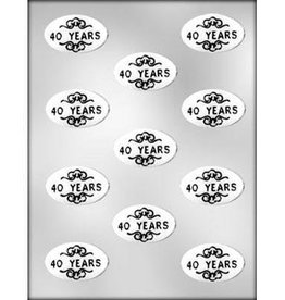 CK Products 40 Years Oval Chocolate Mold