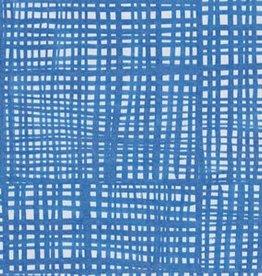 Caspari Cocktail Napkin - Raffine Blue Paper Linen