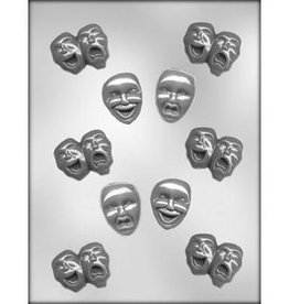 CK Products Comedy and Tragedy Sucker Chocolate Mold