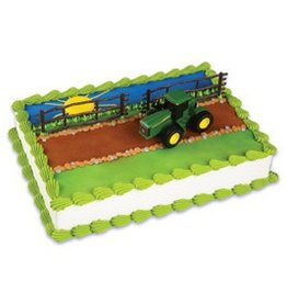 Deco Pack Farm Tractor and Trailer Cake Topper