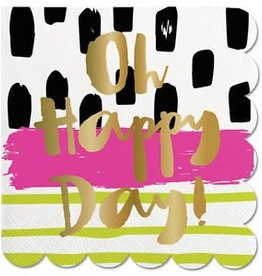 Slant Collections Foil Beverage Napkins - Oh Happy Day