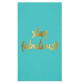 Slant Collections Foil Guest Towel - Stay Fabulous