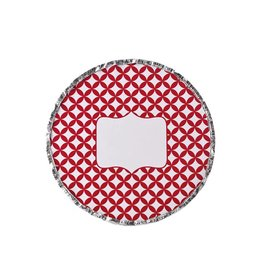 Simply Baked Foil Pan Scarlet Medallion (Red)