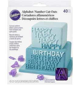 Wilton FONDANT CUT-OUTS SET 40PC ALPHABEST & NUMBERS EFS