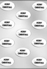 CK Products Merry Christmas Oval Chocolate Mold
