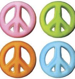 Lucks Peace Sign Asst. Sugar Dec-Ons (8 per pkg)