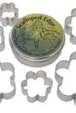R and M Scalloped Cookie Cutter Set (6 pc)