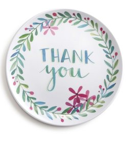 Demdaco Thank You Melamine Giving Plate 6 inch